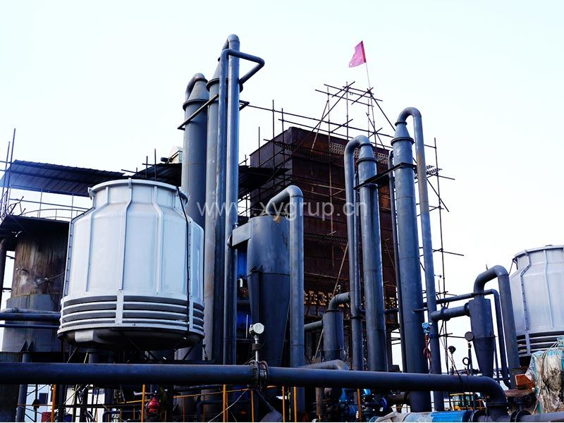 Biomass Gasifer with Filters and Water Cooling System